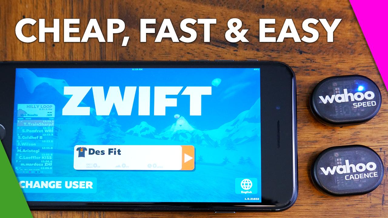 CHEAPEST & QUICKEST Zwift Setup – DesFit