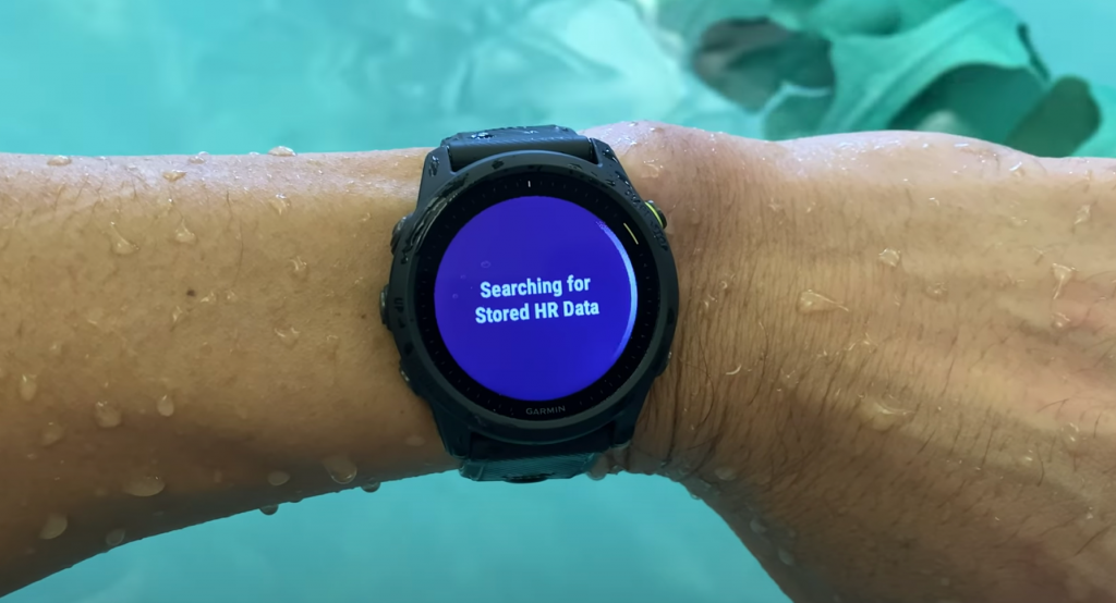 Downloading Swimming Heart Rate